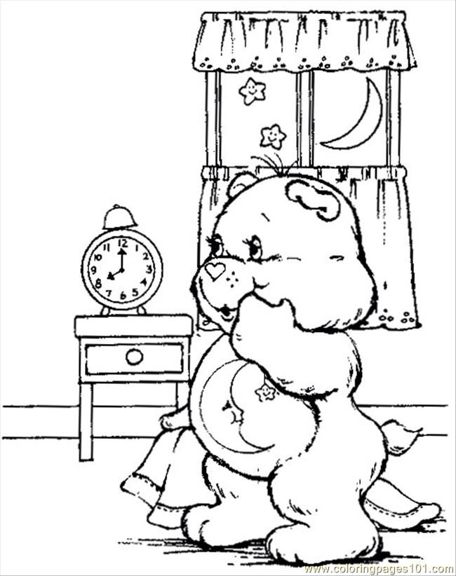 Vintage Care Bear Print And Color Me Cute Coloring Pages