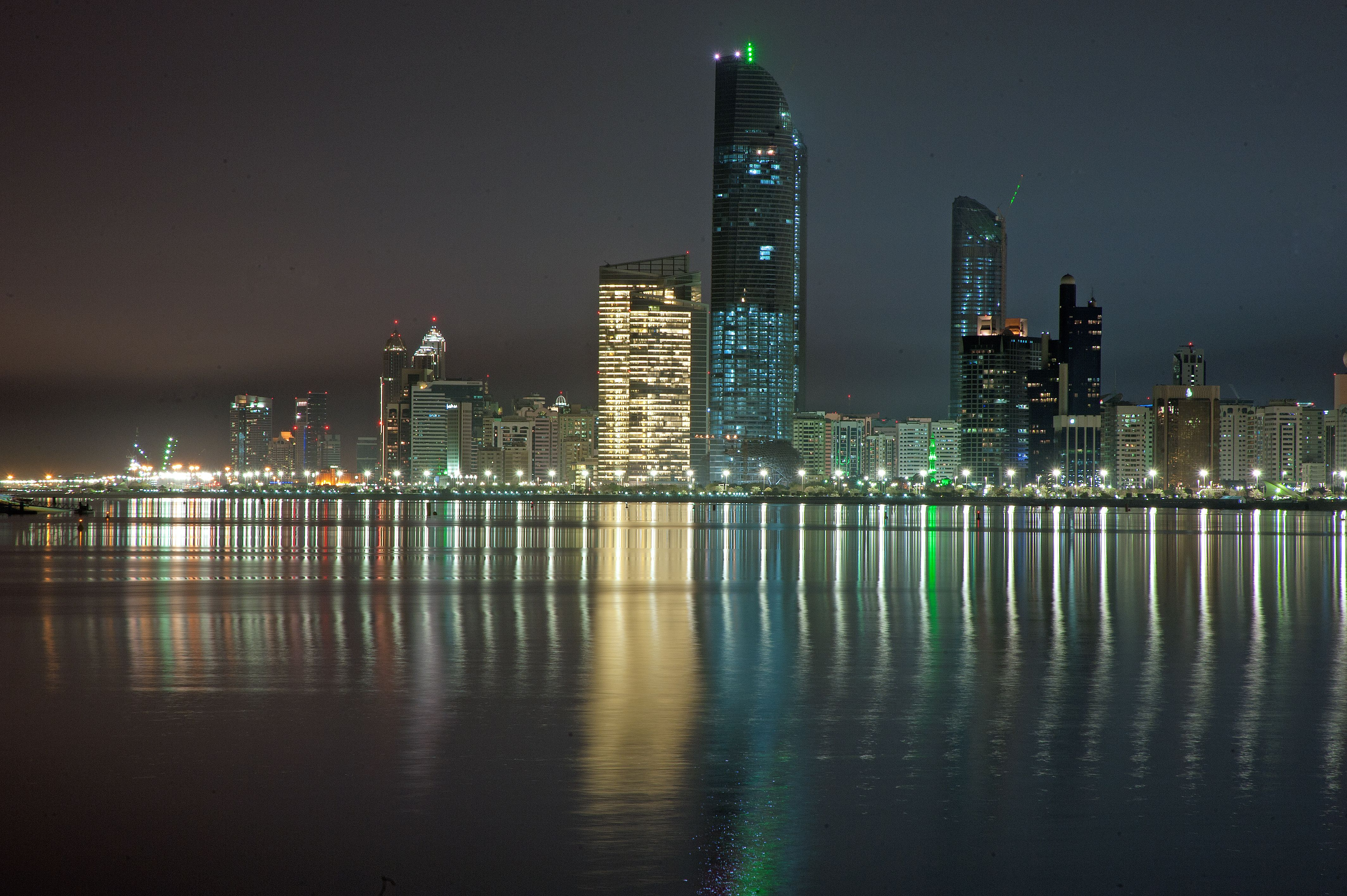 taken from the Heritage Village looking back to the corniche & the new Landmark Tower building.