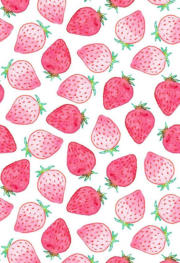 Strawberry Drawing Cute : strawberry, drawing, Polka, Printed, Backdrops, Strawberry, Backdrop, Backgrounds, S-2849, Drawing,, Background,