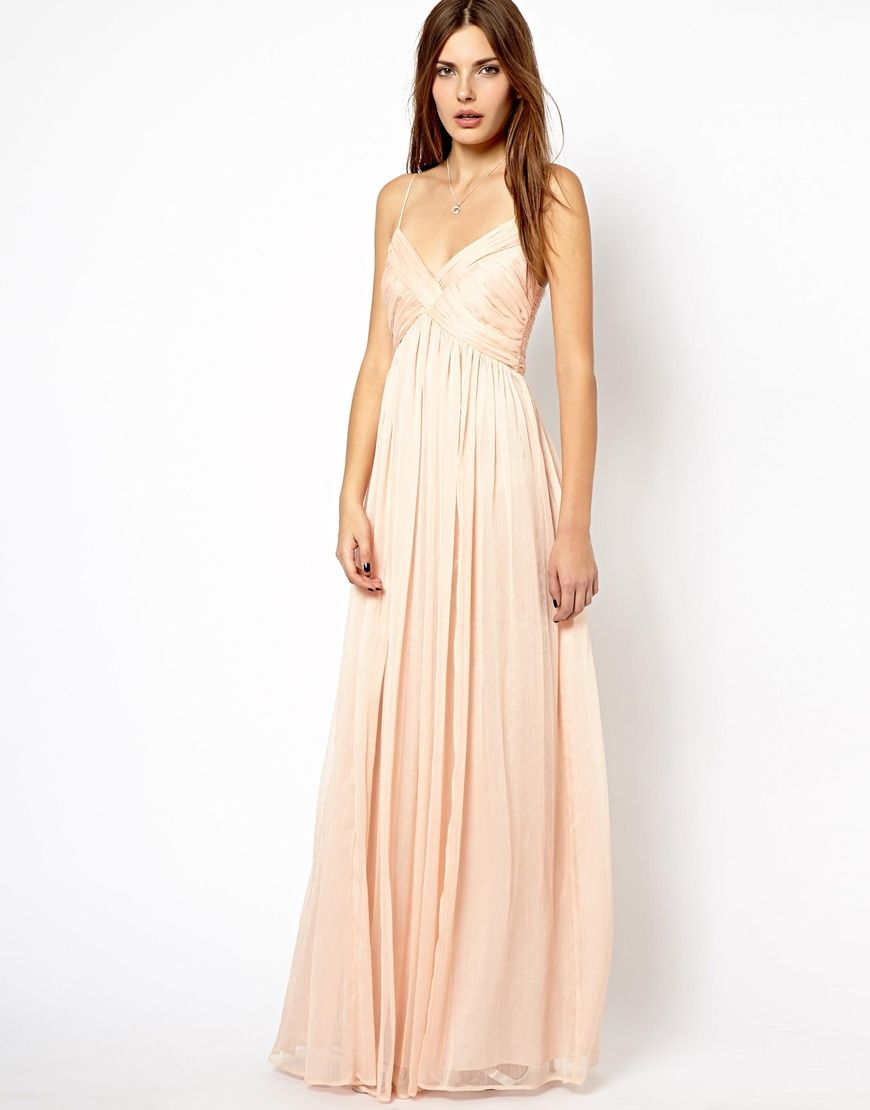 Mango Chiffon Ruch Maxi Dress... Possible bridesmaid dress - My ...