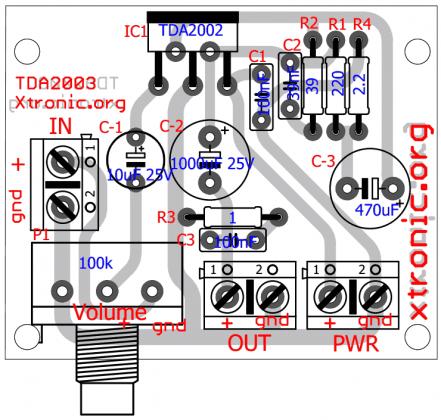 tda2003 power amplifier volume 700x666 circuit of power audiotda2003 power amplifier volume 700x666 circuit of power audio amplifier with ic tda2003 for 10 watt power amplifier ic circuits automotive audio amplifier