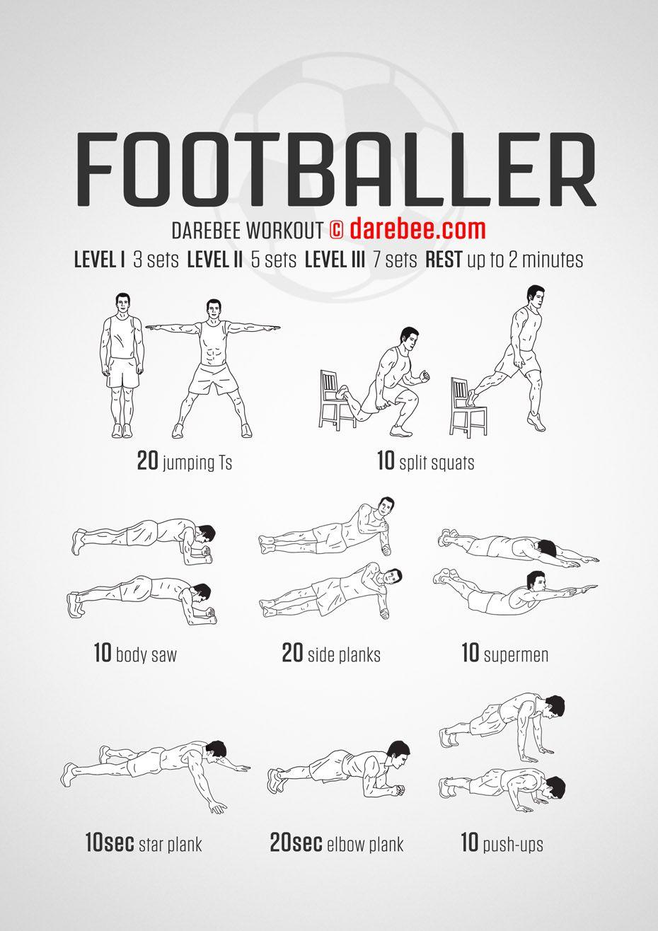 Footballer Workout Soccer Workouts Football Workouts Training Basketball Workouts