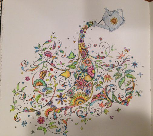 Secret Garden Colouring Book Completed