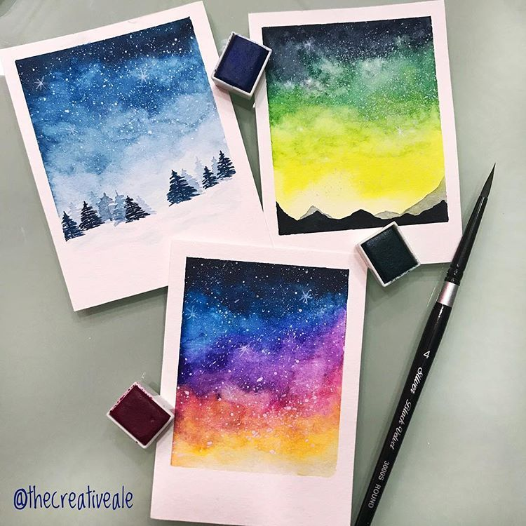 Trying Out Skies Galaxies In The Little Polaroid Style That Make