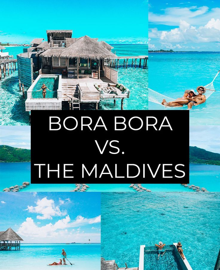 Which place is better for a vacation, the Maldives or Bora Bora? The first thing to keep in mind is where you are traveling from. The Maldives is more readily accessible from Europe and Africa than Bora Bora is, but if you are based in the United States then Bora Bora is the better option. ... Both Bora Bora and the Maldives involve further travel from the international airport. #borabora #frenchpolynesia #travel #tahiti #paradise #oceania #maldives #love #beach #travelgram #polynesia