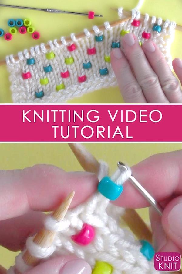 Comment tricoter des perles dans n'importe quel projet   – Video Tutorials from Studio Knit