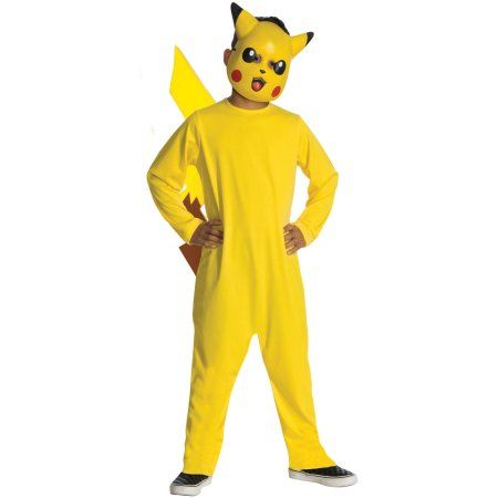 pokemon pikachu child halloween costume boys size large yellow