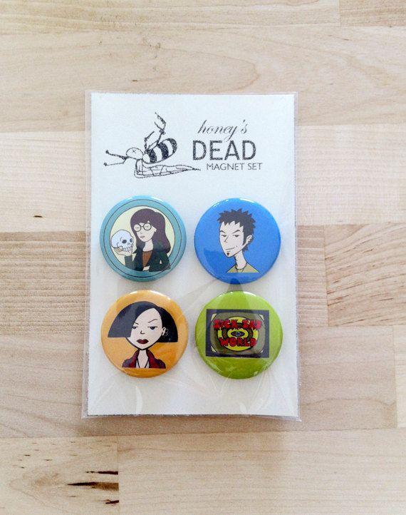Daria Magnet Set by HoneysDead on Etsy, $8.00