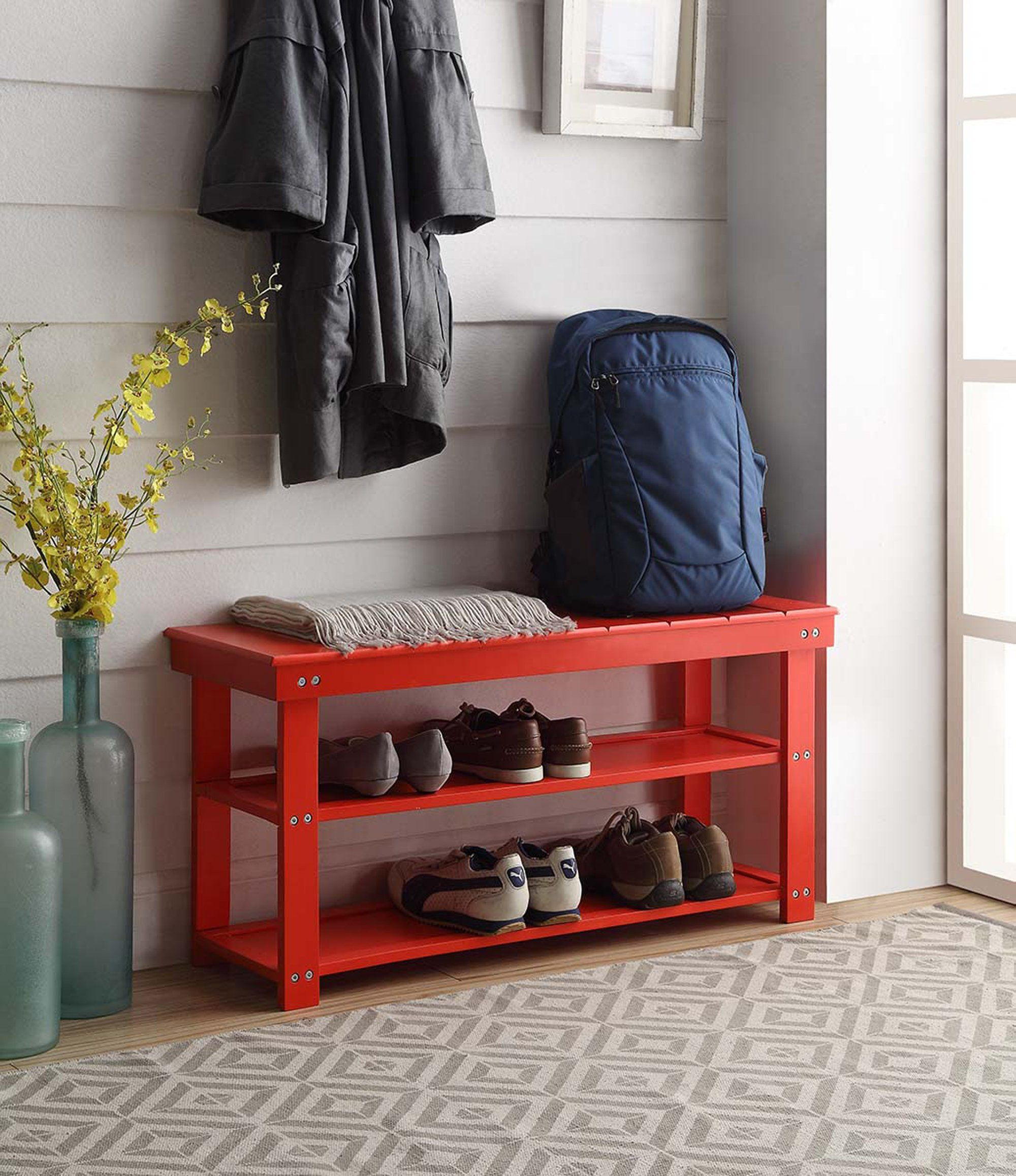 Entryway furniture and decor lavorist mudroom bench
