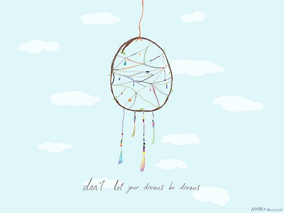 A3 print: Don't let your dreams be dreams