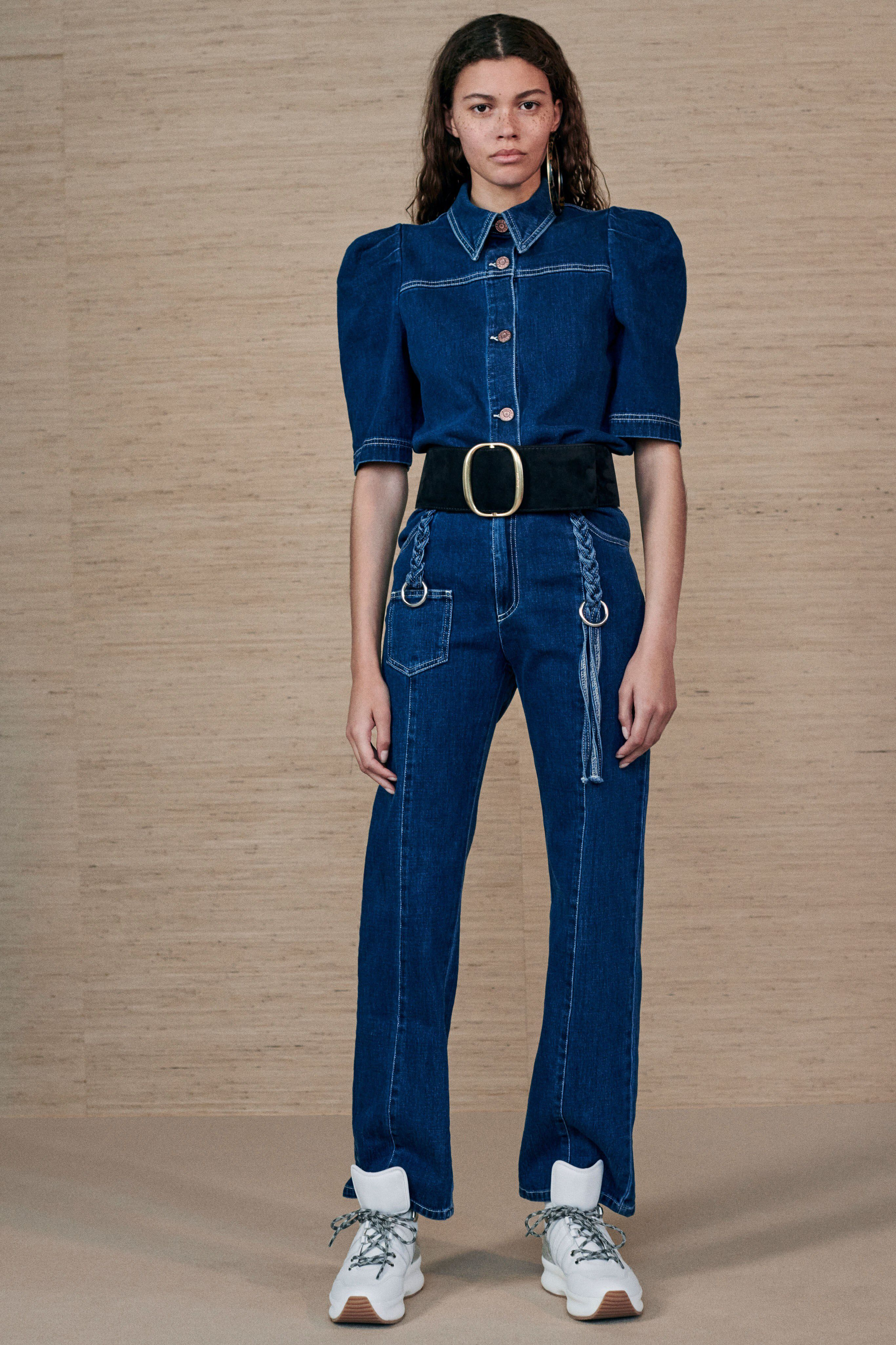 aa74e793dfae See the complete See by Chloé Resort 2019 collection. Denim Jumpsuit