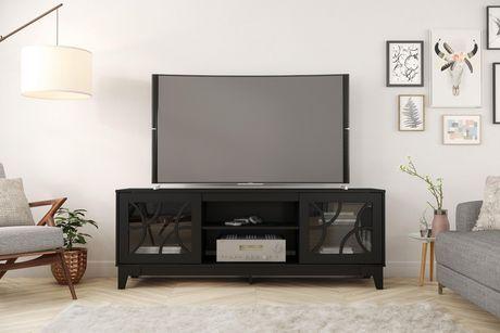 Nexera Venus 72 Inch Tv Stand Black Black Tv Stand Walmart Tv