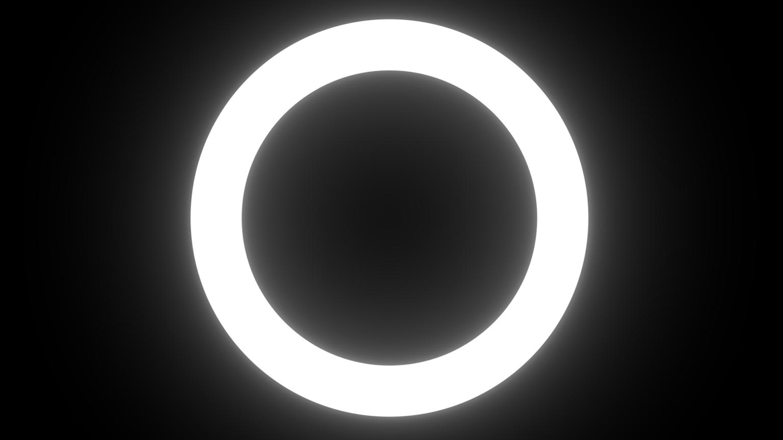 White Ring Light Png