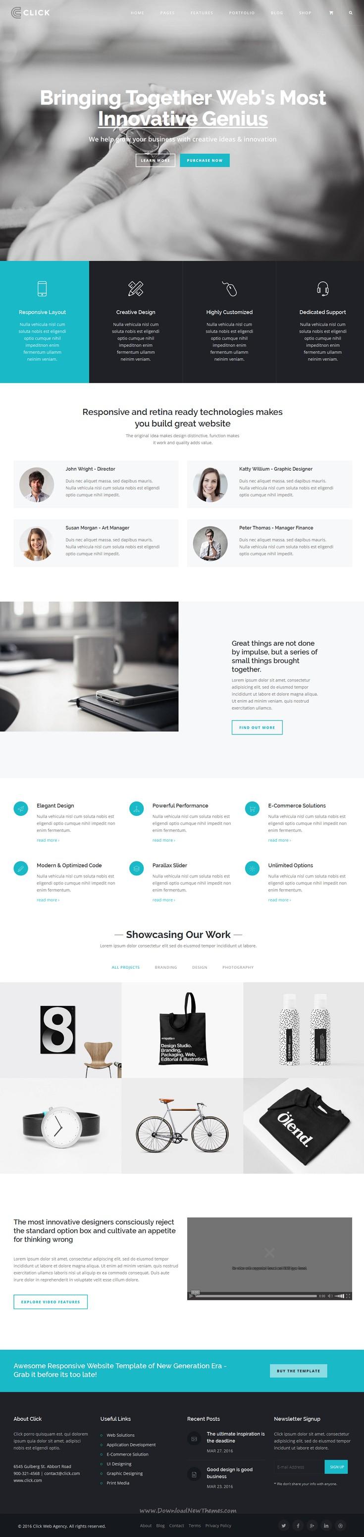 Click - Multi-Purpose Responsive Website Template | Webdesign ...