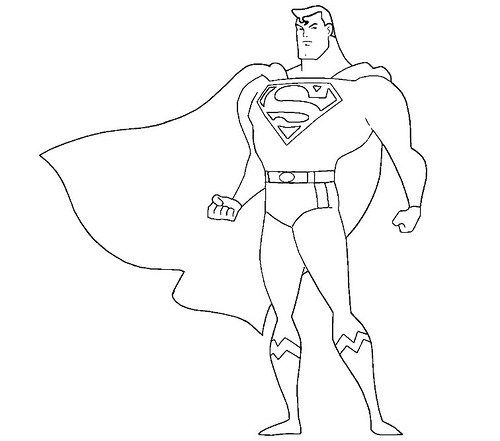 Dibujos E Imagenes De Superman Para Pintar Imprimir Y Colorear Superman Dibujo Superman Para Colorear Como Dibujar A Superman