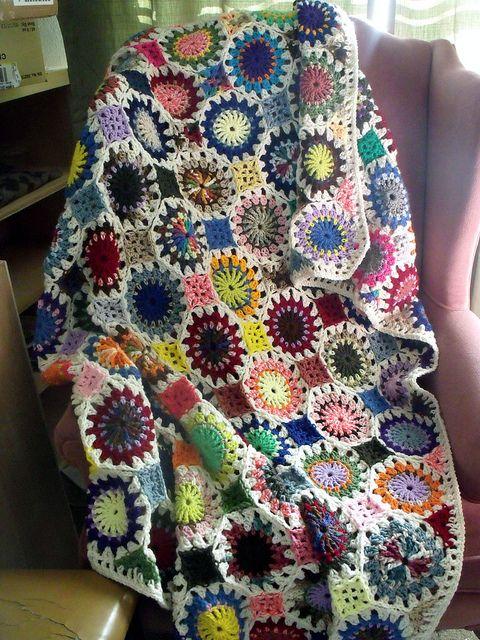 Crochet Scrap Afghan Afghans Scrap And Free Pattern