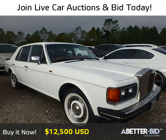 Salvage 1985 ROLLS-ROYCE ALL MODELS For Sale