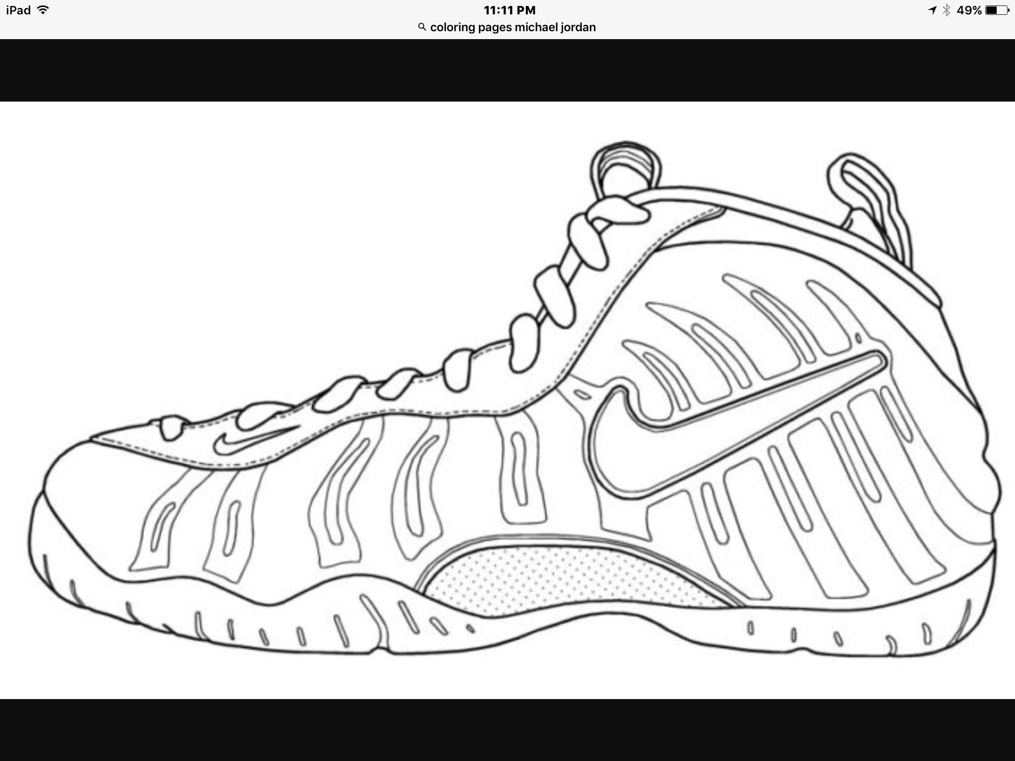 Nike Air Foamposite Coloring Page Template