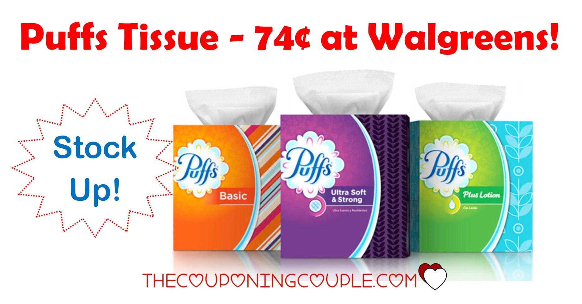 Puffs Facial Tissues Walgreens for 0.99 thru 5/16
