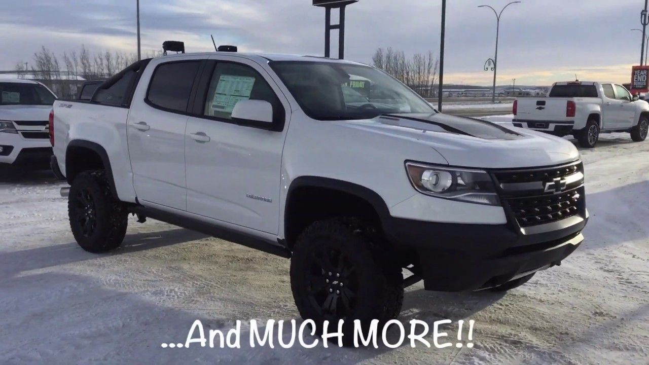 New 2019 Chevrolet Colorado Zr2 Dusk Edition White 4x4 19n047