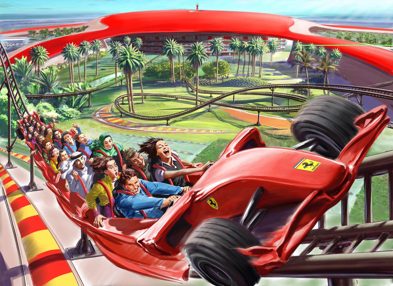 Dubai Abudhabi Ferrari World Theme Park Ferrari World Abu Dhabi Ferrari World Dubai Tour