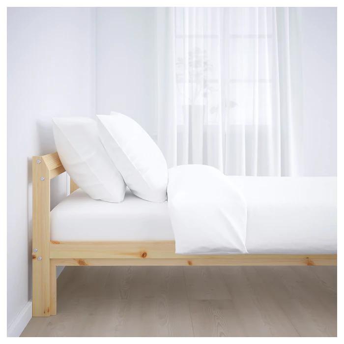 NEIDEN Sängstomme furu björk, Luröy   Ikea bed, Pine bed