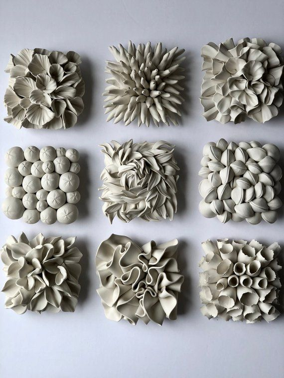Set Of Miniature Clay Wall Tile Sculptures Of Your Choice Deko - Fliesen löcher machen