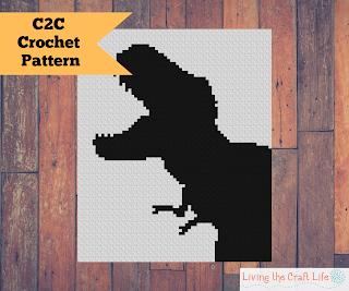 Tyrannosaurus Rex C2C Blankets - FREE GRAPH #tyrannosaurusrex