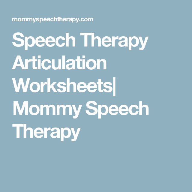 Speech Therapy Articulation Worksheets Mommy Speech Therapy – Mommy Speech Therapy Worksheets