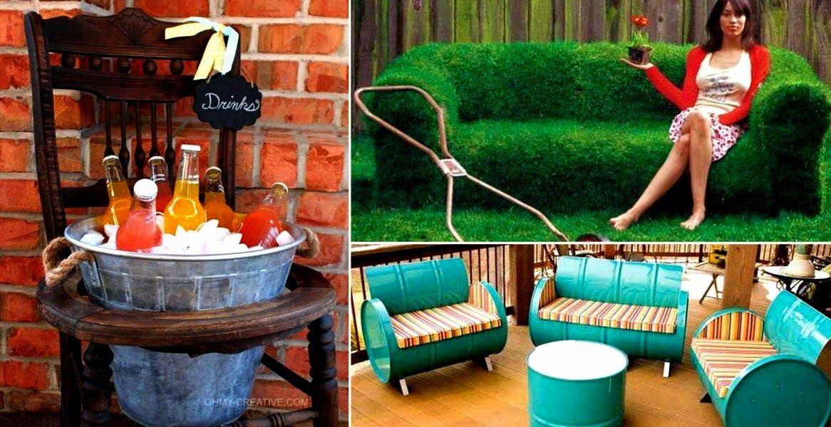 28 Őrülten jó és kreatív kerti bútor ötlet Készítsd
