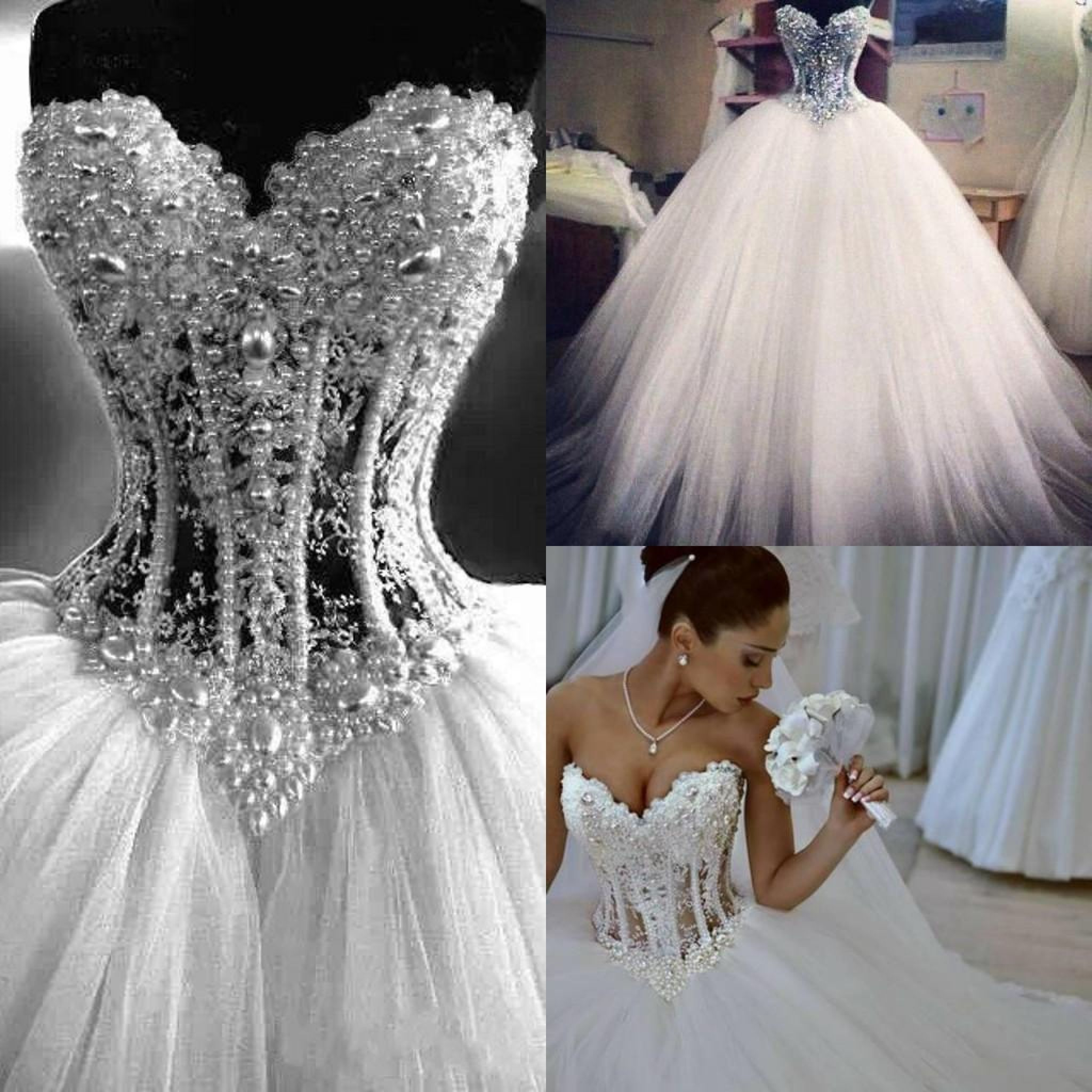 White Ball Gown Wedding Dress  Plus Size Dresses For