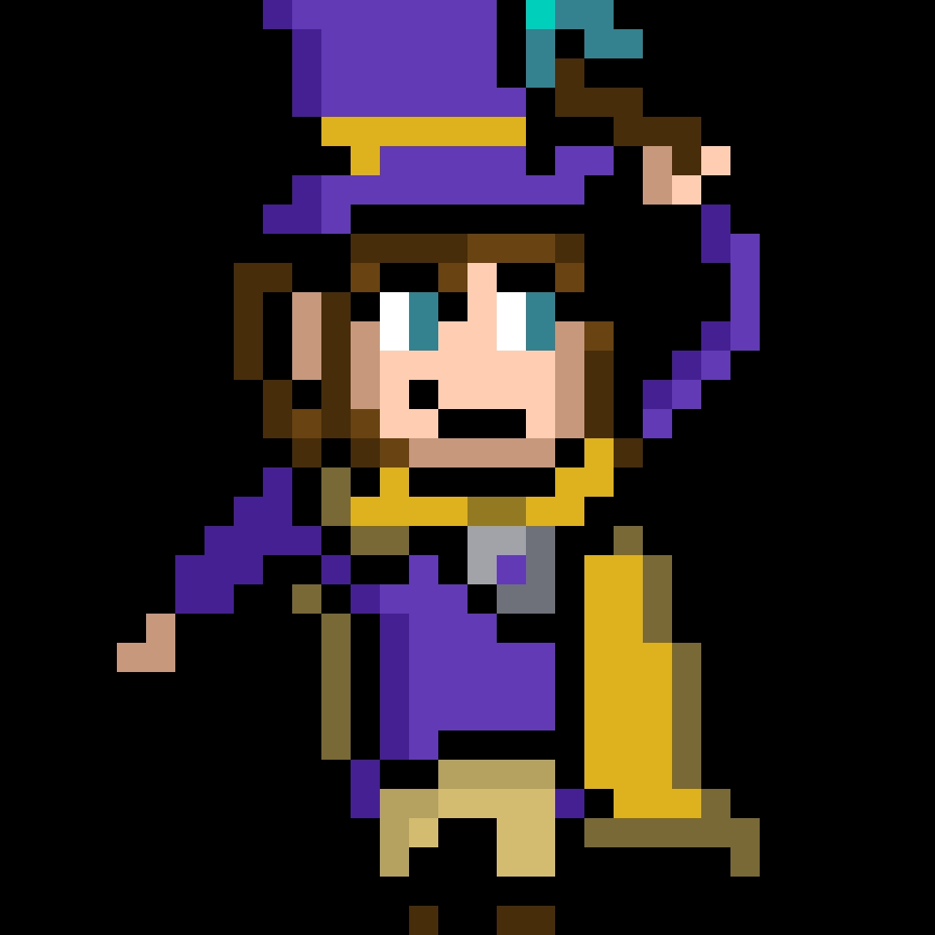 Hat Kid Pixel Art Pixel Art Hat In Time A Hat In Time