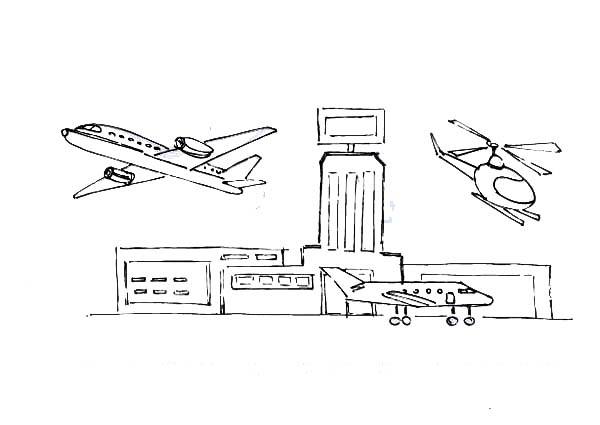 Pin By S B On Airport Coloring Pages Coloring Pages Online Coloring Drawings