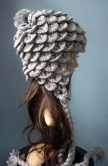 Croco stitch hat! | All Things Yarn... | Pinterest | Mütze, Häkeln ...
