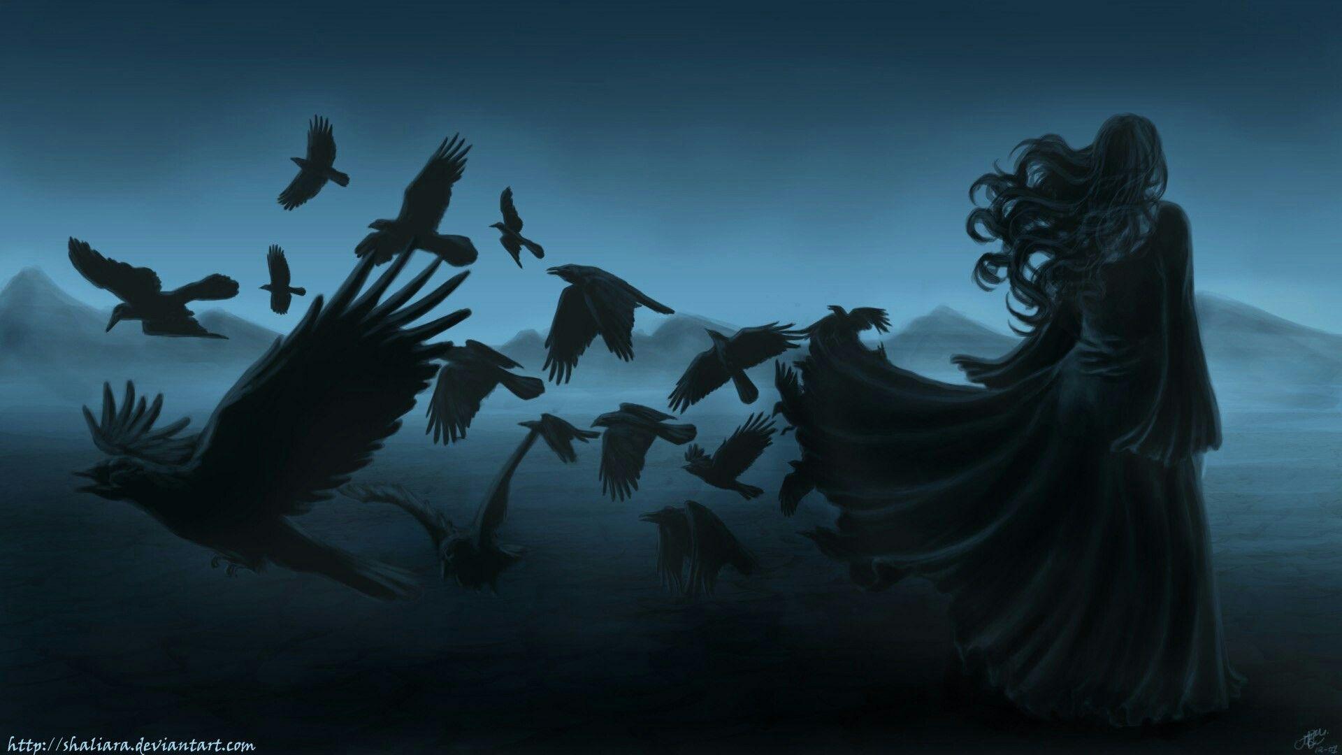 мистические картинки птица и человек как