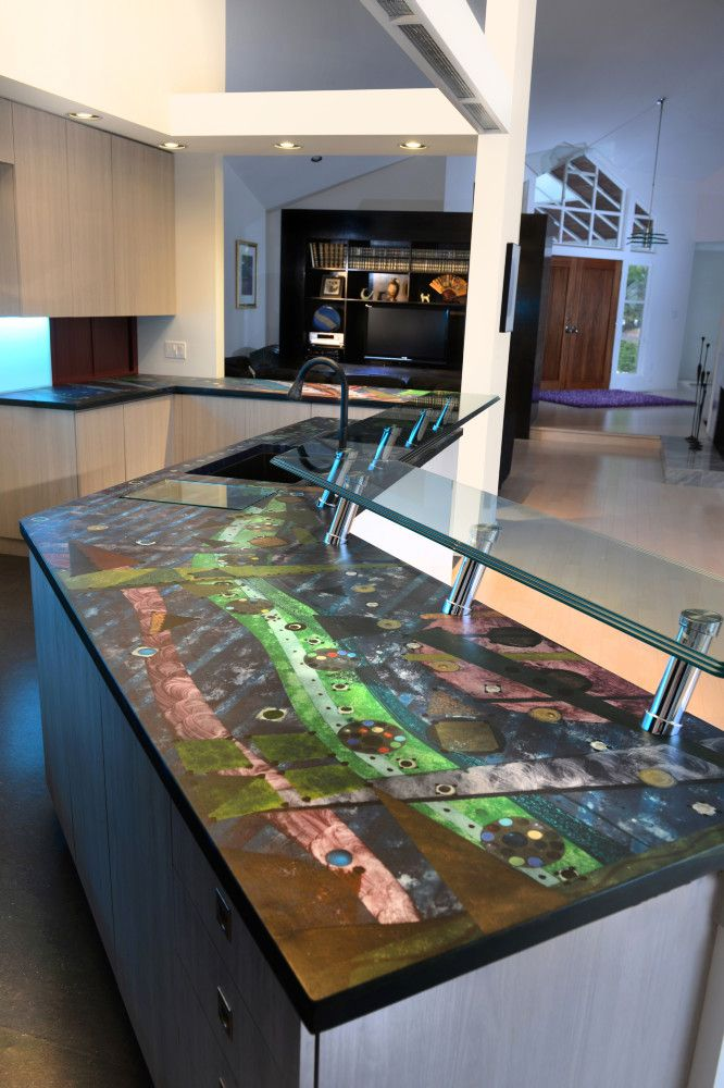 Superieur These Artistic Countertops Were Handcrafted By SunWorks, Etc. In  Collaboration With Pennsylvania Artist Robert Stadnycki.  Www.sunworksetc.com # ...