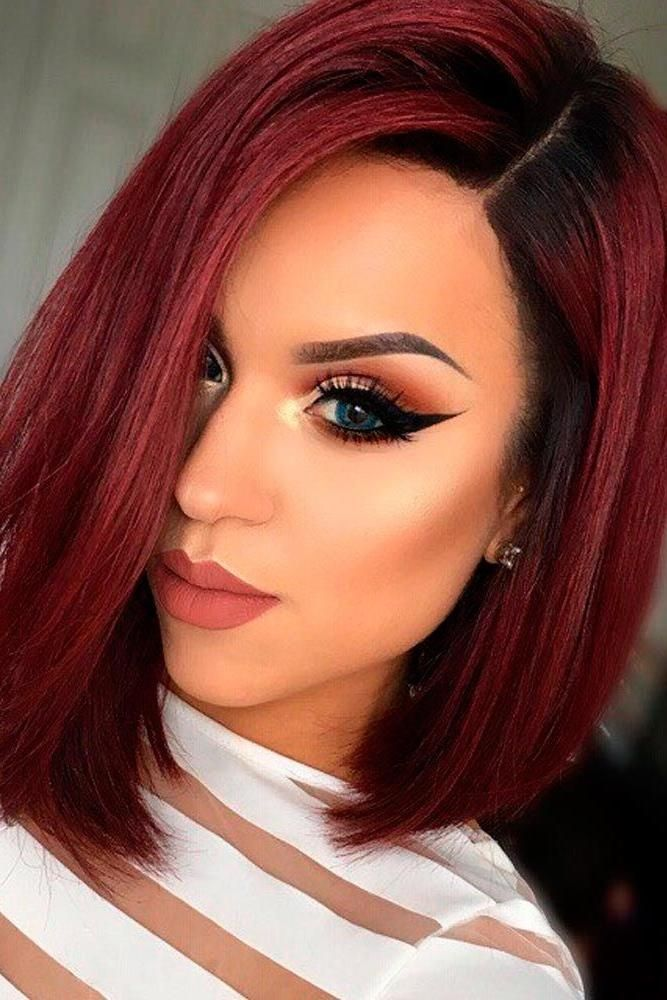 79 Black and Red Ombre Hair Model   Ombre hair blonde, Red ombre hair, Short red hair