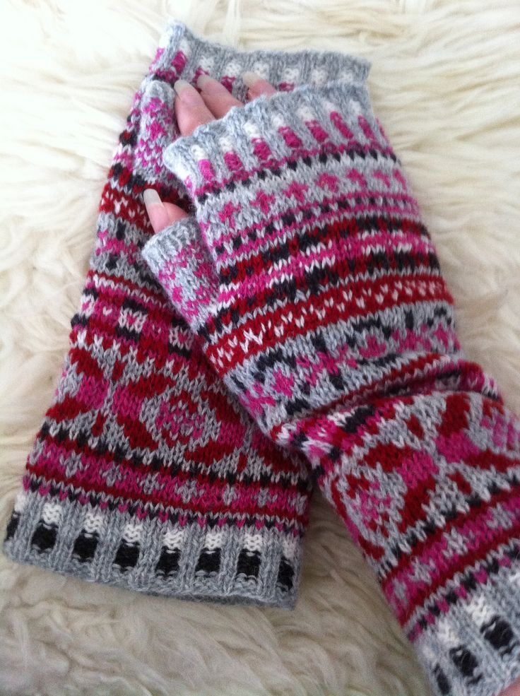 Ravelry: Project Gallery for Fair Isle Cuffs pattern by Julie ...