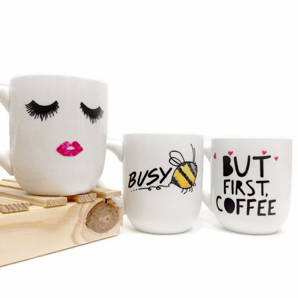 Start Your Day With A Cup Of Coffee Whole Lot Mascara And This Lash Love Mug One Kind Features Hand Painted Eye Lashes Pretty Lips