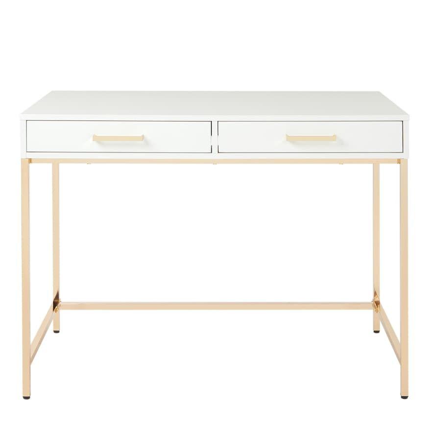 Osp Home Furnishings Alios Desk Kohls In 2020 Osp Home Furnishings White Desks White Writing Desk