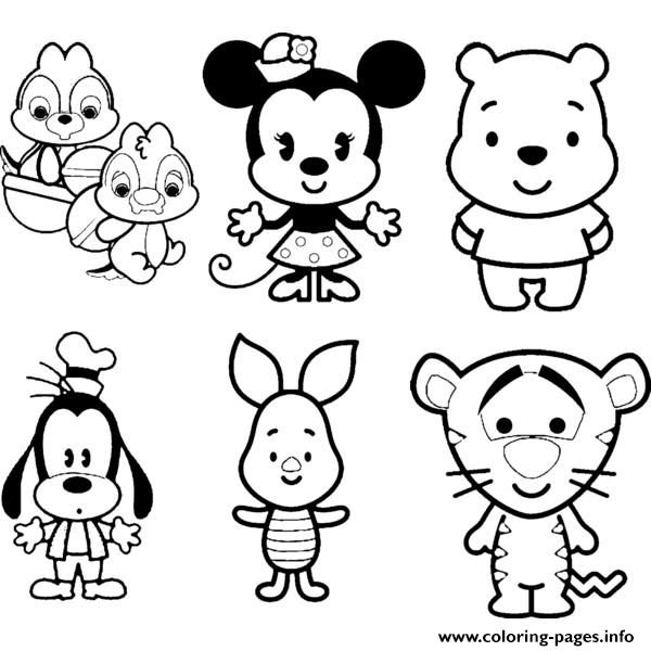 Print Disney Cuties Tsum Tsum Kids coloring pages | Awesome Crafting ...