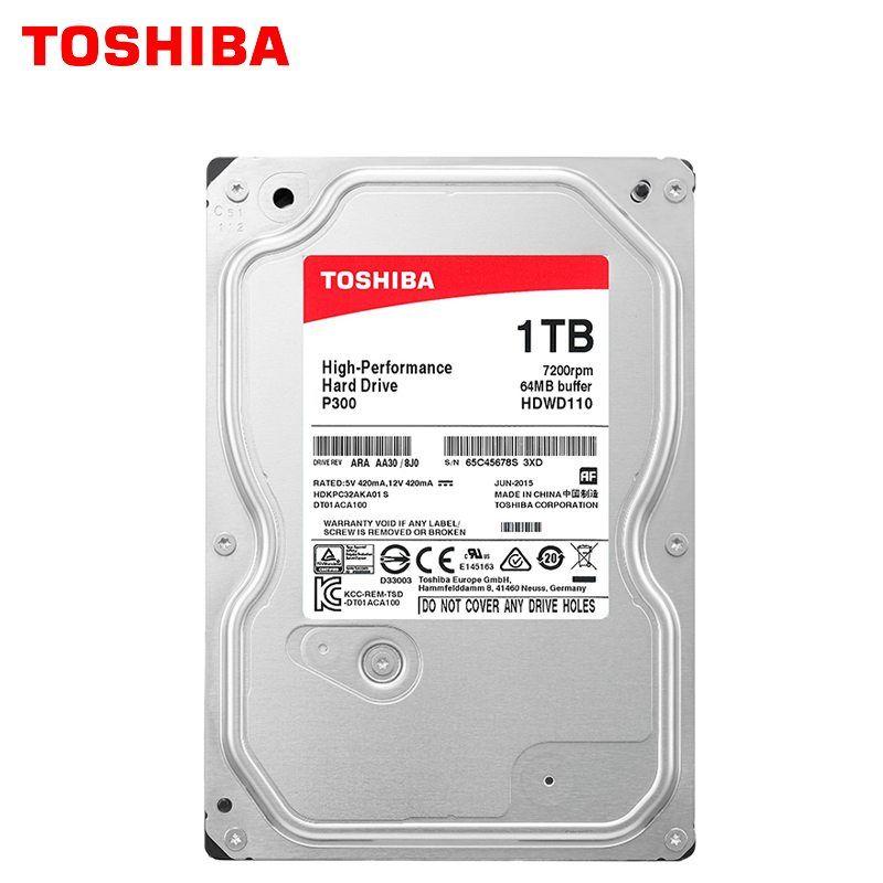 Toshiba High Performance 1tb Hard Drive Disk 1000gb Hdd 3 5 Desktop Pc Computer Internal Hd Sata 3 7200rpm 64m Cache 6 0 Gbit S Storecharger Toshiba Hard Drive Hdd