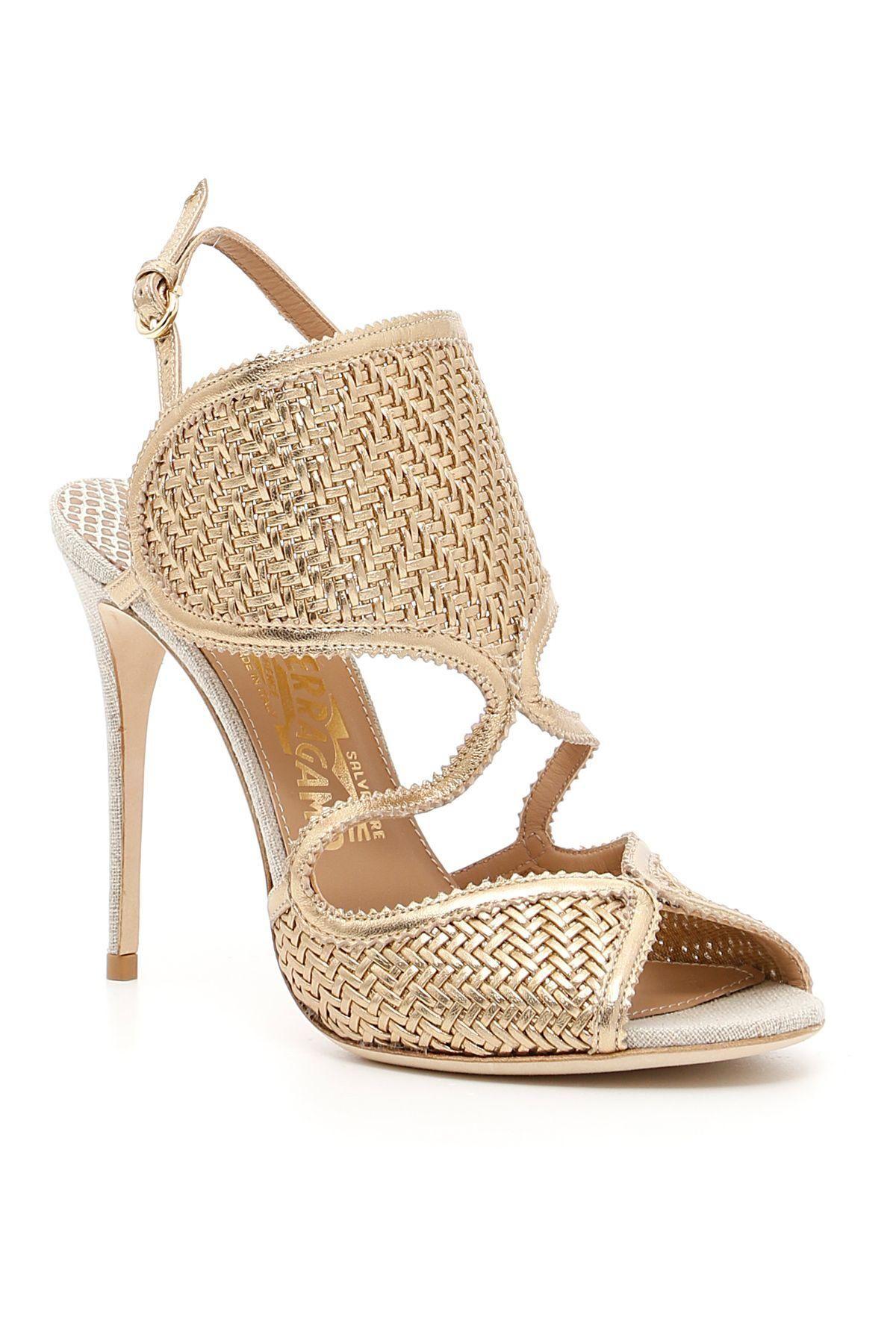 Salvatore Ferragamo Woven Slingback Sandals discount ebay 2NDF8O
