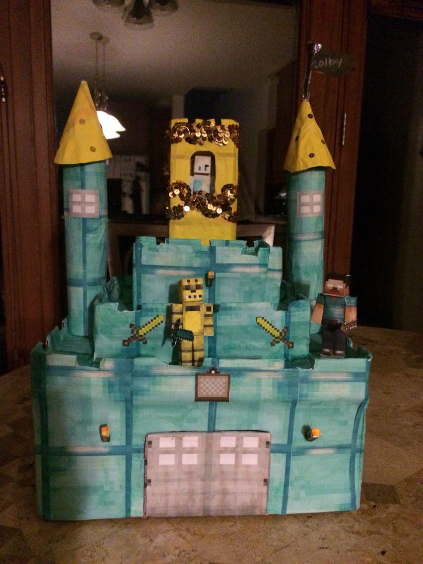Fesselnd Minecraft Diamond Castle Valentine Box