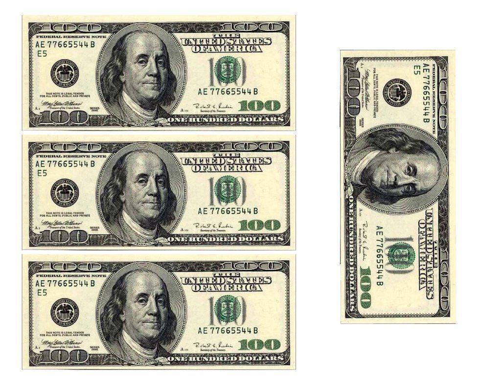 100 dollar bill replicas edible cake image cake wrap
