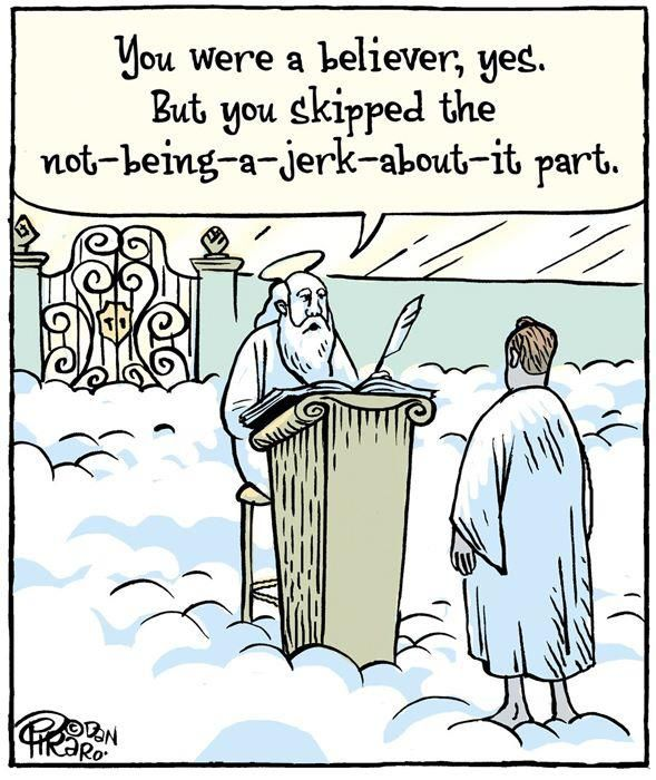love it! Too many people don't love/respect mankind, even though they are extremely a dedicated christian.