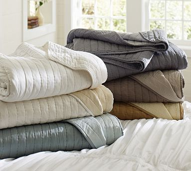 Silk Cotton Channel Two Tone Sham King Brownstone At