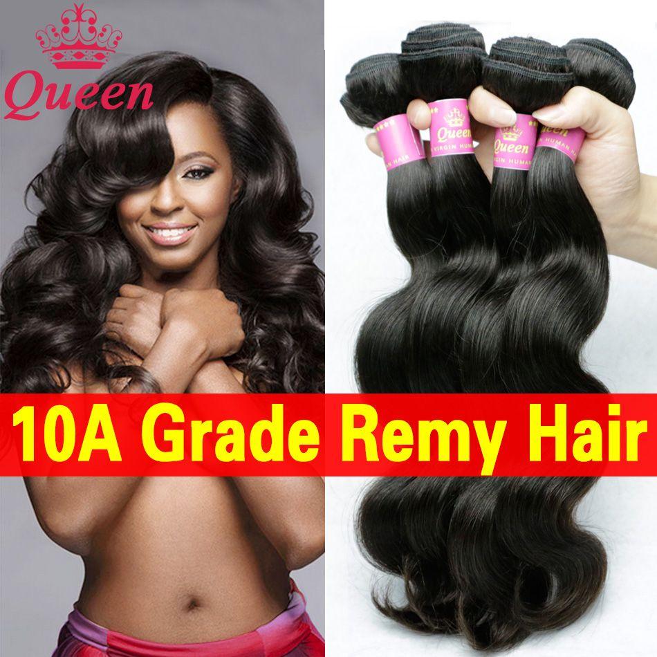 10a braziliaanse lichaam 4 bundels nertsen braziliaanse virgin haar queen hair producten 100% onverwerkte remy menselijk haar bundels