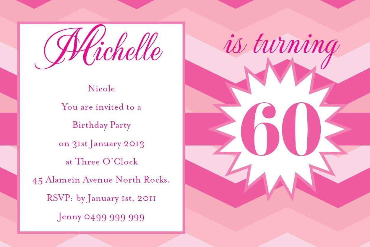 Birthday Ombre Postcard in Fuschia Pink Invitation - Impressive ...