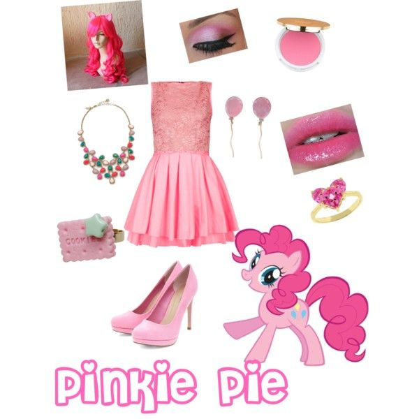 Pinkie pie from My little pony by zamantha-palazuelos on Polyvore featuring polyvore, fashion, style, Topshop, Vhernier, Kate Spade, Kate Bissett, Isaac Mizrahi and My Little Pony